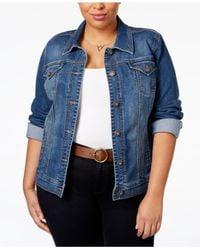 Style & Co. - Blue Plus Size Denim Jacket, Mosaic Wash - Lyst