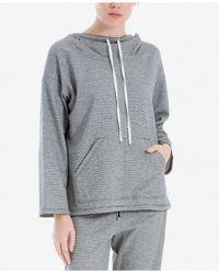 Max Studio - Gray Pullover Hoodie - Lyst