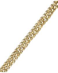 Macy's - Metallic Woven Bracelet In 14k Gold - Lyst
