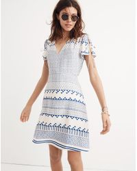 5c7aba6092aa9 Madewell Poppy Dress In Ionian Tile in Blue - Lyst