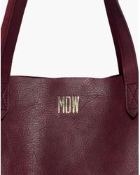 Madewell - Red The Transport Tote - Lyst