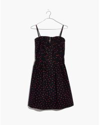 Madewell - Black Pintuck Cami Dress In Fresh Strawberries - Lyst