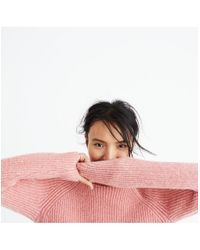Madewell - Pink Northfield Mockneck Sweater - Lyst
