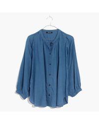 Madewell - Blue Indigo Gauze Shirt - Lyst
