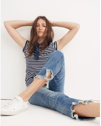 Madewell - Blue Rivet & Thread Retro Straight Jeans - Lyst