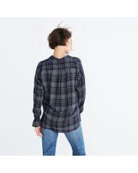 Madewell - Blue Westward Bell-sleeve Shirt In Plaid - Lyst