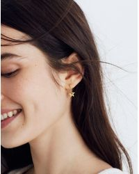 Madewell - Metallic Star Charm Mini Hoop Earrings - Lyst