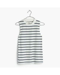 Madewell - White Tune Mockneck Tank Top In Harmon Stripe - Lyst