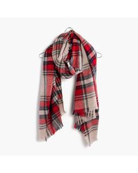 Madewell | Red Scottsdale Plaid Scarf | Lyst