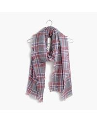 Madewell   Purple Openweave Scarf In Avery Plaid   Lyst