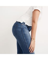 "Madewell | Blue Tall 9"" High-rise Skinny Jeans In Allegra Wash: Rip And Repair Edition 