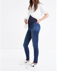Madewell - Blue Maternity Over-the-belly Skinny Jeans In Danny Wash: ® Edition - Lyst