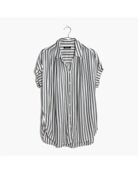 Madewell | Blue Central Shirt In Stripe | Lyst