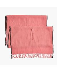 Madewell - Pink Selvedge Poncho Scarf - Lyst