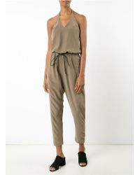 Isabel Benenato - Four-pocket Soil Brown Jumpsuit - Lyst