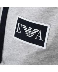 Armani Gray Emporio Full Zip Sleeveless Hoodie Grey for men