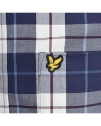 Lyle & Scott - Blue Lyle And Scott Check Poplin Shirt Navy for Men - Lyst
