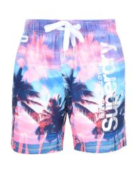 Superdry | Premium Neo Refective Swim Shorts Pink for Men | Lyst