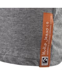Nudie Jeans - Gray Jeans Ollie Crew Neck T Shirt Grey for Men - Lyst
