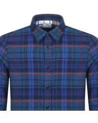 Paul Smith - Ps By Check Shirt Blue for Men - Lyst