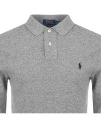 Ralph Lauren - Gray Slim Fit Polo T Shirt Grey for Men - Lyst