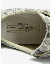"Maison Margiela - White Dollar-print ""replica"" Sneakers - Lyst"