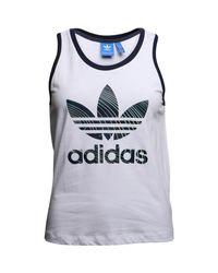 Adidas Originals - Blue Geology Tank Top White - Lyst