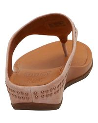 Fitflop - Brown Banda Toe Post Sandals With Studs Peachy - Lyst