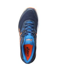 Asics - Gel Pulse 9 Neutral Running Shoes Dark Blue/shocking Orange/victoria Blue for Men - Lyst