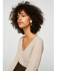 Mango - Multicolor Metallic Finish Sweater - Lyst