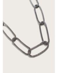 Violeta by Mango - Metallic Link Necklace - Lyst