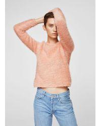 Mango - Pink Sweater - Lyst