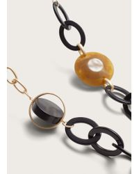 Violeta by Mango - Metallic Mixed Link Collar - Lyst