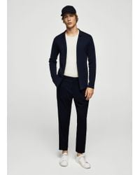 Mango - Blue Cardigan for Men - Lyst