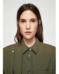 Mango - Green Military Shirt - Lyst