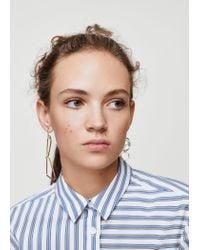 Mango | Metallic Mixed Asymmetric Earrings | Lyst
