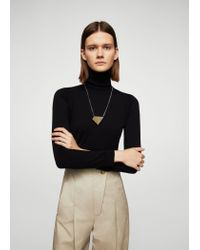 Mango | Metallic Geometric Stone Necklace | Lyst