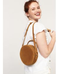 Violeta by Mango | Brown Leather Bag | Lyst