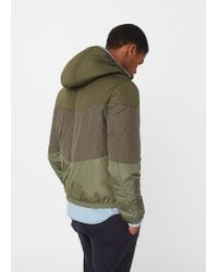 Mango - Multicolor Contrast Panels Quilted Coat for Men - Lyst