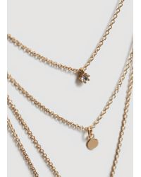 Mango - Metallic Necklace - Lyst