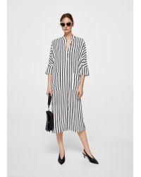 Mango - White Dress - Lyst