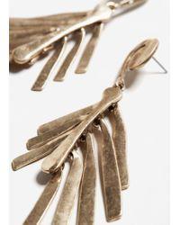 Mango - Metallic Multiple Chain Earrings - Lyst