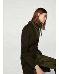 Mango | Green Unstructured Wool Coat | Lyst