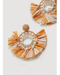 Mango - Orange Pendiente Malibu Hoop Earrings - Lyst