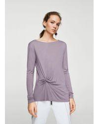 Mango - Purple T-shirt - Lyst