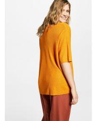 Violeta by Mango - Orange V-neckline Sweater - Lyst