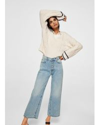 Mango - Blue Vintage Relaxed Jeans - Lyst