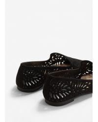 Mango - Black Die-cut Design Shoes - Lyst
