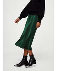 Mango - Green Skirt - Lyst