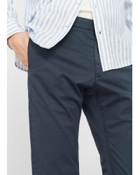 Mango - Blue Straight-fit Cotton Chinos for Men - Lyst